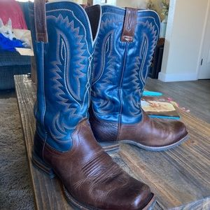Real leather men's cowboy boots